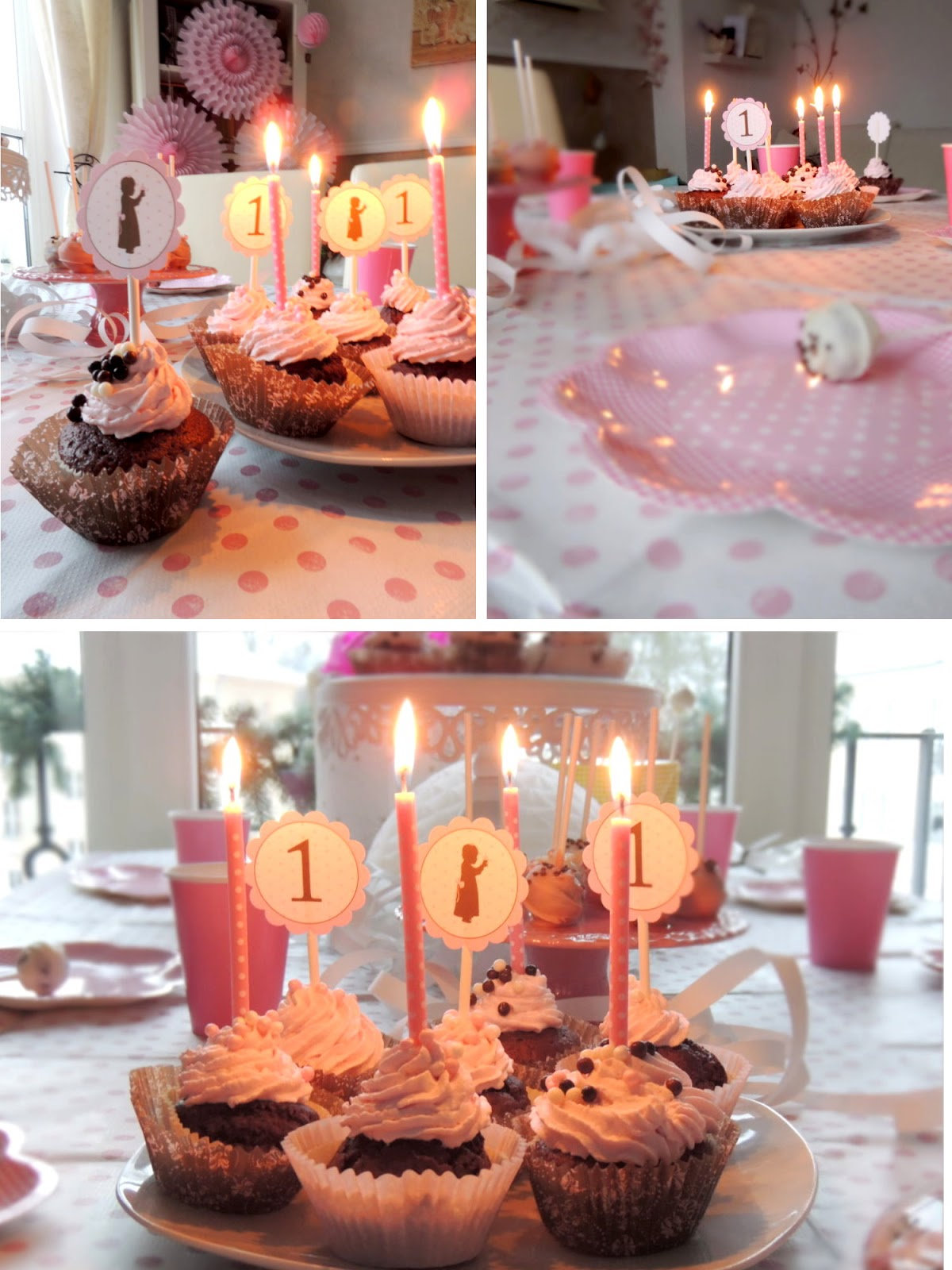Blog Baby S 1 Geburtstag In Vintage Rose Polka Dots
